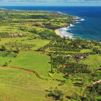 Aerial shot of lot 13-A of Kealia Kai on Kauai - Project Broker is Hannah Sirois