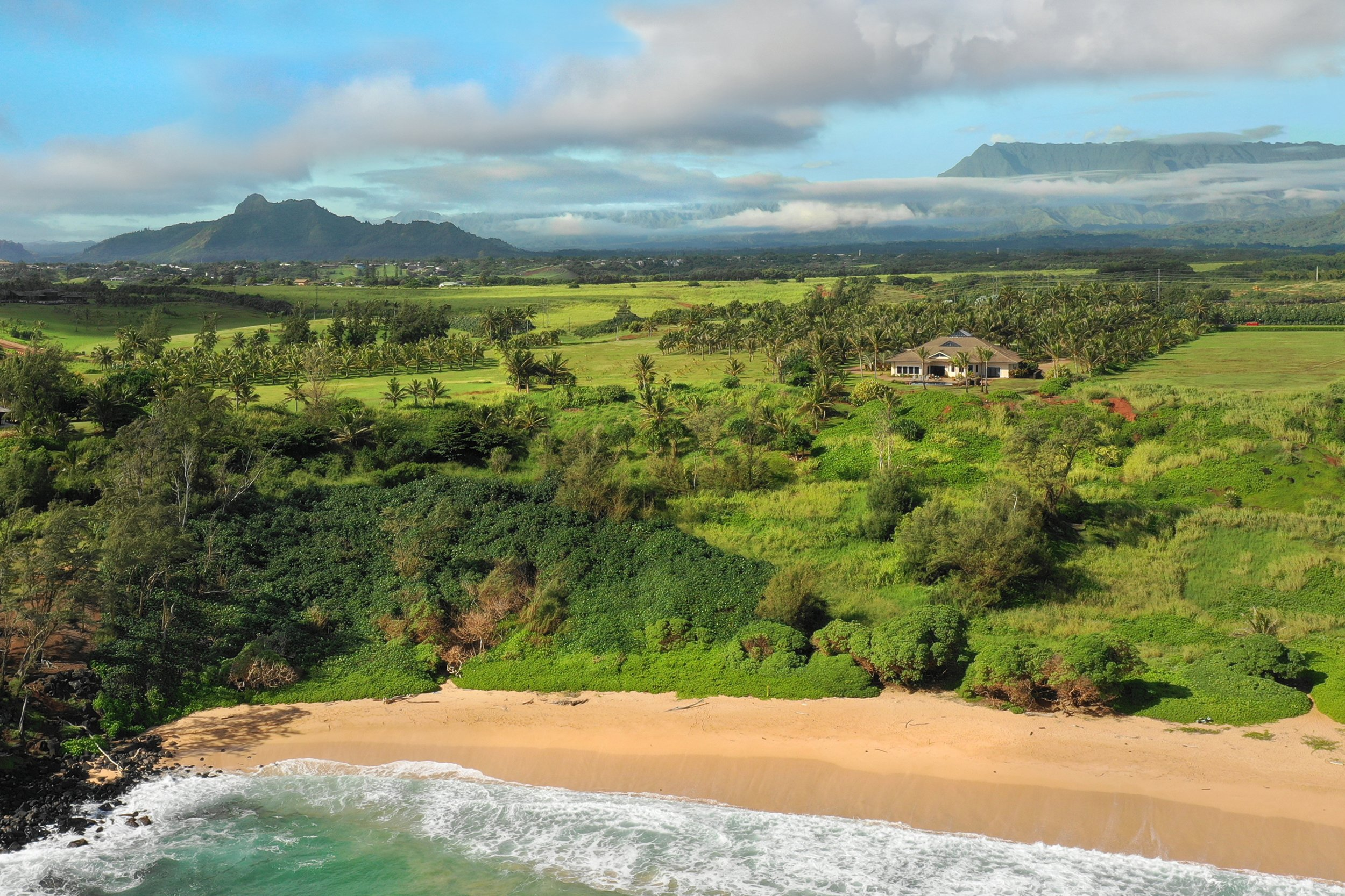 Aerial shot of lot 18 of Kealia Kai on Kauai - Project Broker is Hannah Sirois